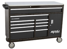 SP Tools SP40091 Roller Top Mount Tool Box- Black