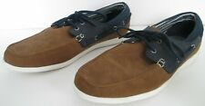 M&S COLLECTION FRESHFEET SIZE 10 MENS SOFT BLUE BROWN CASUAL DECK BOAT SHOES