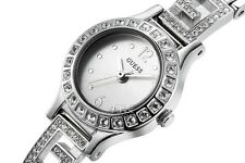 AUTHENTIC GUESS DARLING SILVER TONE STONE SET LADIES WATCH U0411L1 Brand New