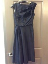 Byron Lars Vintage Iconic Drape Bodice Side Draped Black Dress- size 6-w/belt