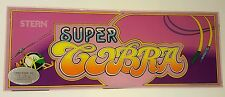 Original Super Cobra by Stern Marquee Header Sign Arcade Coin Op Video Game