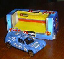 Renault Megane-Buggy Schlesser-blau-1:43-Burago-unbespielt-Ok-guter Zustand