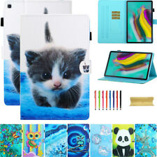For Samsung Tablet Tab A T290/T510/T860/T720 Patterned Leather Card Stand Case