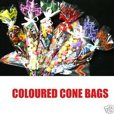 Cellophane Cone Bags for Party Sweet Favour gift 8 Colours Prints