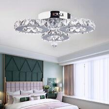 Crystal Chandelier LED Lighting Hanging Pendant Home Fixtures Room Decoration US