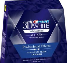 Crest 3D white Whitestrips Professional Effects 20 Strips 10 Pouch, No BOX
