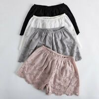 Lady Cotton Floral Knickers Briefs Panties Underwear Bloomers Shorts Hollow Chic
