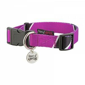 Haus of Harley Metron designer dog collar - Nightshade purple/black - 3 sizes
