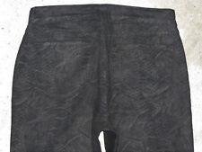 NYDJ Straight Jeans Black Reptile Print USA Sz 8 EUR 38 Lift Tuck NEW