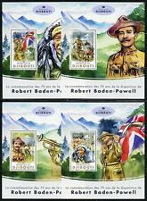 Djibouti 2017 75th Memorial Baden-Powell Scouts Set Of Four S/S'S Mint Nh