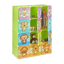 Steckregal Kinderzimmer mit Tier-Motiven Kunststoff Stecksystem Kleiderschrank