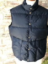 Woolrich Mens Navy Insulated Down Puffer Vest Small