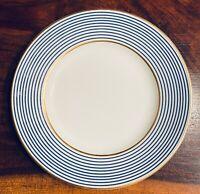 """12 Limoges RAYNAUD CRINOLINE BLEU (Mille Raies) BREAD PLATES - 6.5""""  - Set of 12"""