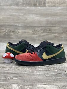 Nike Dunk Low Sb BHM 2013 size 9.5 304292-673 Green Red Black Gold History Month
