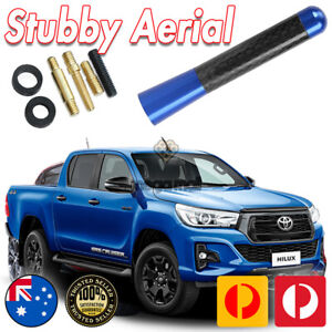 BLUE ANTENNA / AERIAL STUBBY BEE STING For Toyota Hilux 2012-2019 N70 N80 7 CM