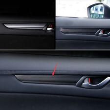 4*Black titanium Door Handle Armrest Stripe Cover Trim For Mazda CX-5 CX5 17-18