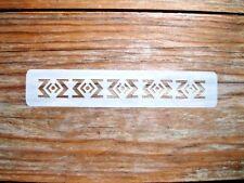 Aztec Diamond Design Face Paint Stencil Approx 14cm x  3cm 190micron Washable