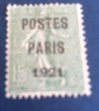Près N° 28 15 C Vert Paris 1921 Oblitère  Bon Centrage Et TB Côté 200€