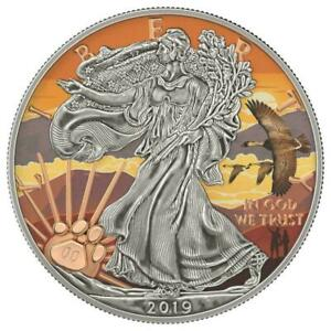 USA 2019 $1 US National Park HALEAKALA 1 Oz 999 Silver Coin Mintage 99 pcs