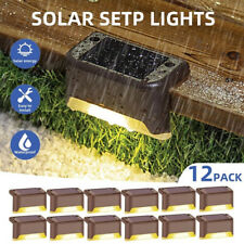 12X LED Solar Step Light Outdoor Garden Fence Stair Deck Pathway Walkway Lamp AU
