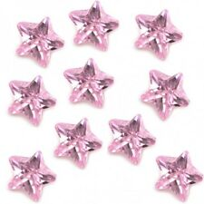 Pink Zirconia Crystal Star Floating Charm For Memory Locket Pendant Necklace
