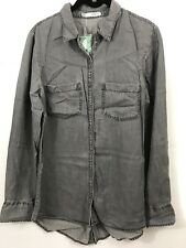 Nwt Maurices Women's Buttons Shirt Size M Gray