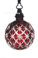 Waterford 2013 Cased Ball Ornament Ruby Red Cut to Clear Crystal New in Box