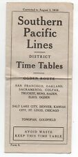 1918 Southern Pacific Lines Public Timetable for the Ogden Route