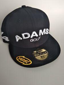 NEW Adams Golf V4 YES! New Era 59 Fifty Golf Hat - 7 1/8 - Black - Tour Use