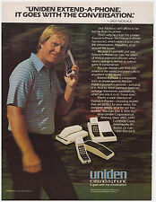 Original 1982 Uniden Extend-A-Phone Print Ad with Golfer Jack Niklaus PGA