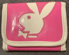 PLAYBOY BUNNY WALLET PINK&WHITE W/ COIN ZIPPER