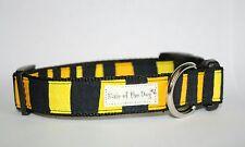 Black/Yellow Bumble Bee Stripe DoG Collar-Large