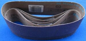 5 Pack! 3M 761D 60 Grit 3 inch x 21 inch Sanding Belt - 5 Belts in Total