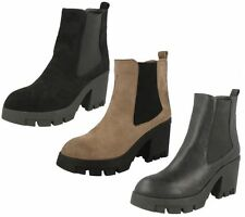 Block Heel Spot On Synthetic Ankle Boots for Women