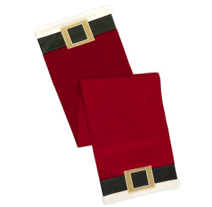 """Christmas Table Runner Santa Clause Jacket and Belt St. Nicholas Square 54"""""""