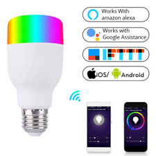 WiFi Smart Bulb Colorful LED 7W RGBW APP Alexa Google for Smart Home E27 E26 WA