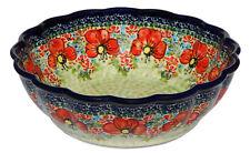 Polish Pottery Bowl 9 Inch diameter from Zaklady Boleslawiec 1279/296ar