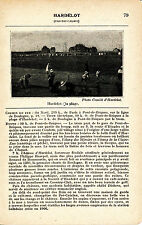 62 Hardelot-Plage 1927 photo + guide (2 p.) tram, golf, tennis, aviation Blériot