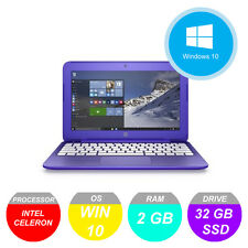 "HP Stream 11-r001na 11.6"" 32GB 2.16GHz 2GB Notebook Laptop Purple"