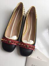 c737e97c2 Gucci Black Studded Leather Ballet Pumps Size  38 1 2