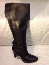 Dune Black Knee High Leather Boots Size 41