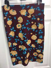 LuLaRoe Size L Women's Multicolored Floral Skirt