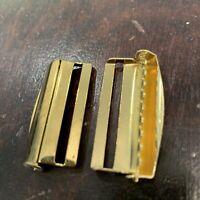 2pcs Gold Fixed Bar Slider Metal Buckle Teeth Adjuster  DIY Bags  30mm Belt