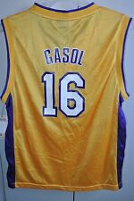 Los Angeles Lakers Pau Gasol #16 Road Jersey Youth Lrg Adidas/NWT