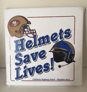 NFL San Francisco 49ers STADIUM SEAT CUSHION Helmet S Save Lives