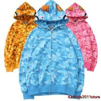 Hot A Bathing Ape Bape Hoodie Cotton Splice Jacket Coats Camo Cool 25th Annivers