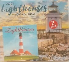 """2021 LightHouses Wall Calendar 2 Pack Large = 11� x 12� & Small =6"""" x 6"""""""
