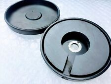 """Magnet base w rubber boot cover for antenna. 3.2"""" diameter 80 Lbs pull 3/8"""" hole"""