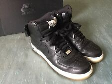 NIKE Air Force 1 High Premium LE  BLACK-BLACK-SAIL 386161-001 AF1 Futura sz 8.5