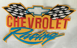 Bowtie Racing Embroidered Cloth Garage Shirt Jacket Back Patch sew or iron on